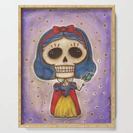 Blanca Nieves Day of the Dead Serving Tray