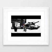 war Framed Art Prints featuring War by Hiver & Leigh