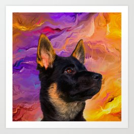 German Shepherd Puppy Art Print