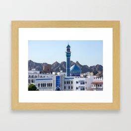 Muttrah Mosque - Muscat, Oman Framed Art Print