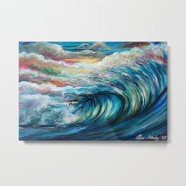 The Rainbow Wave Metal Print