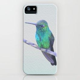 Cuban Emerald Hummingbird iPhone Case