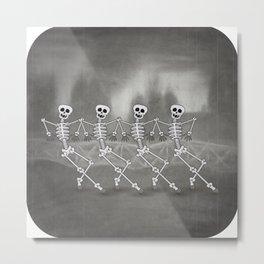 Dancing skeletons I Metal Print
