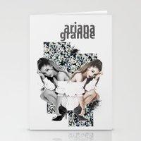 ariana grande Stationery Cards featuring Ariana by Andrea Valentina