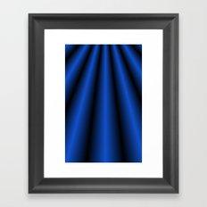 Blue Chiffon Dress Framed Art Print