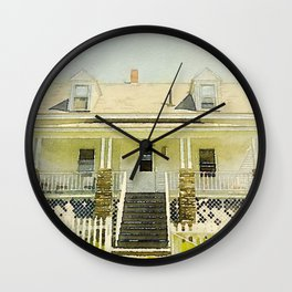 Pemaquid Point Lightkeepers House, Maine Wall Clock
