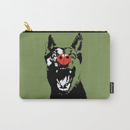 Alsatian funny portrait green art print Carry-All Pouch