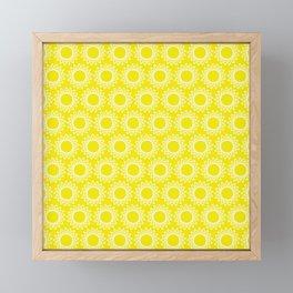 Sun Yellow Pattern - Beach Sun - Mix and Match with Simplicity of Life Framed Mini Art Print