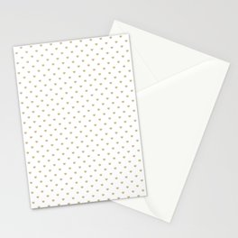 Christmas Gold Love Hearts on White Stationery Cards