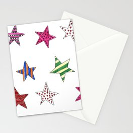 Shiny Christmas Stars - Xmas Decoration Stationery Cards