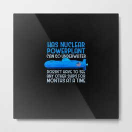 Military Submarine Veteran Gift US Submarine Power Plant Metal Print