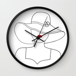 Red Lipstick Wall Clock