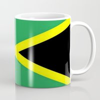 jamaica Mugs featuring Jamaica Flag by D.A.S.E. 3