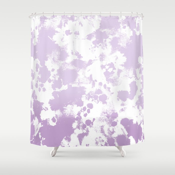 Painted Abstract Minimal Ombre Painting Charlotte Winter Canvas Art Shower Curtain