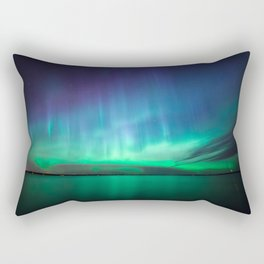 Beautiful northern lights Rectangular Pillow