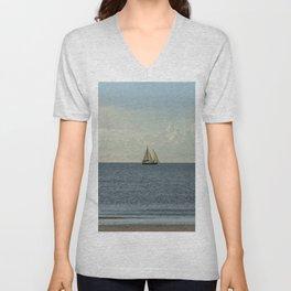 Sailing Along the Coast Unisex V-Neck