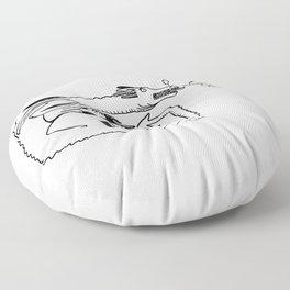 When Dragons Sneeze Floor Pillow