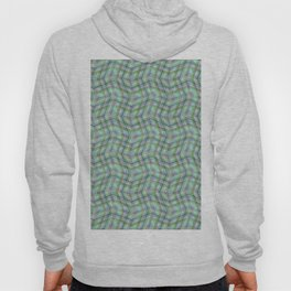 Overlapping lines in turquoise. Hoody