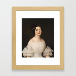 Portrait of A Woman Framed Art Print