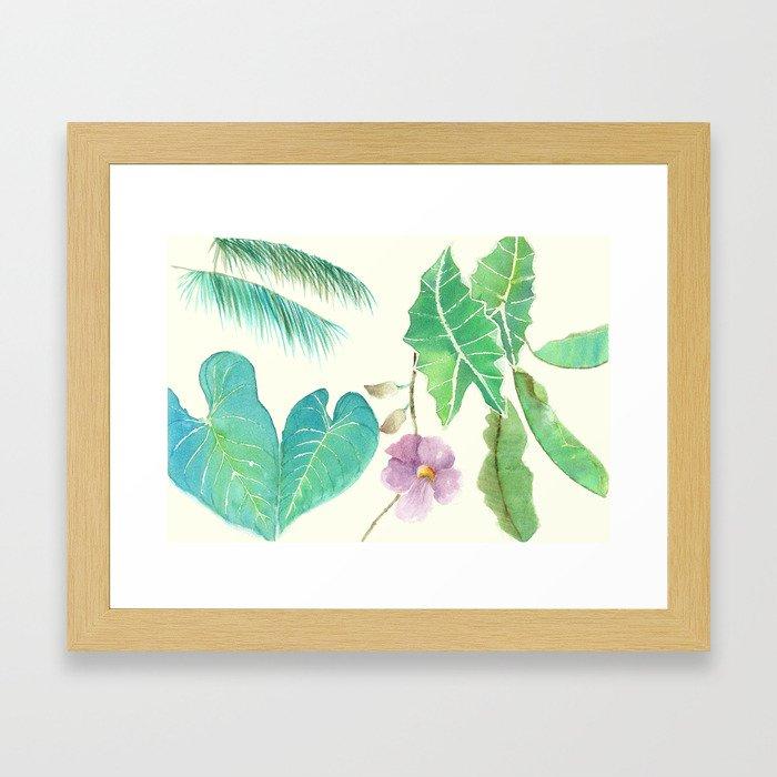 Tropical Combo Ivory (High Resolution) Framed Art Print