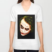 joker V-neck T-shirts featuring Joker by William Cuccio aka WCSmack