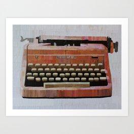 Pink Typewriter Art Print