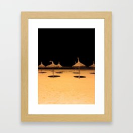 Beach at night Framed Art Print