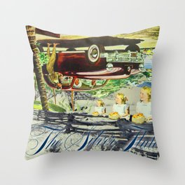 THE SILVER FLUTE Throw Pillow