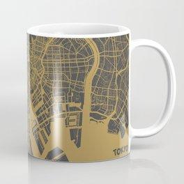 Tokyo Map #1 map ocher Coffee Mug