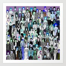 Tokyo Punks - Pop Zombies Art Print