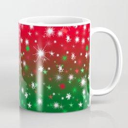 Christmas Variegated Red and Green Star Glow Coffee Mug