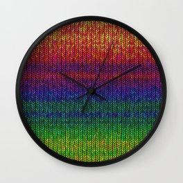 Rainbow Knit Photo Wall Clock