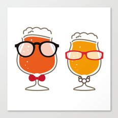 pair beer  Canvas Print