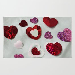 Confetti Heart Photography Print Rug