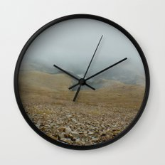 Snowy day on Pikes Peak Wall Clock