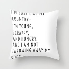 Young, Scrappy & Hungry Simple Throw Pillow