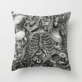 Casing of Pain Throw Pillow