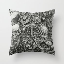 Casing of Pain Throw Pillow