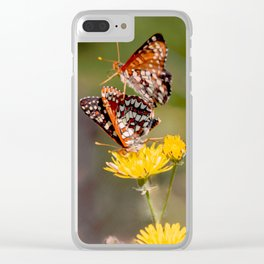 Butterfly Acrobats Clear iPhone Case