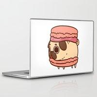 macaron Laptop & iPad Skins featuring Puglie Macaron by Puglie Pug
