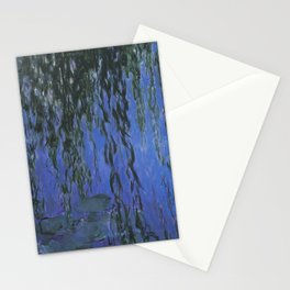 Water Lilies and Weeping Willow Branches by Claude Monet Stationery Cards