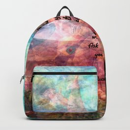 Rumi Motivational Quote Everything in the universe is within you Backpack