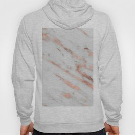 Marble - Rose Gold Marble with White Gold Foil Pattern Hoody