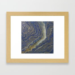 fluid lapis agate Framed Art Print