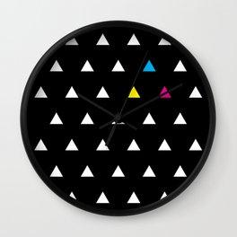 CMYK Triangles Wall Clock
