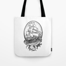 GUIDED BY WHALES Tote Bag