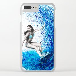 Thoughts and Waves Clear iPhone Case