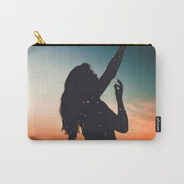 WOMAN - SUNRISE - SUNSET - LIGHTS - PHOTOGRAPHY Carry-All Pouch