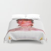 aladdin Duvet Covers featuring Bowie : Aladdin Sane Pixel by Stuff.