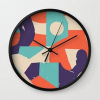 rush Wall Clocks featuring No Rush by Wilmer Murillo